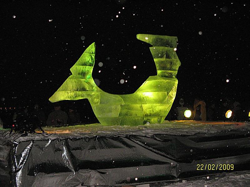 Gdyńska rzeźba lodowa