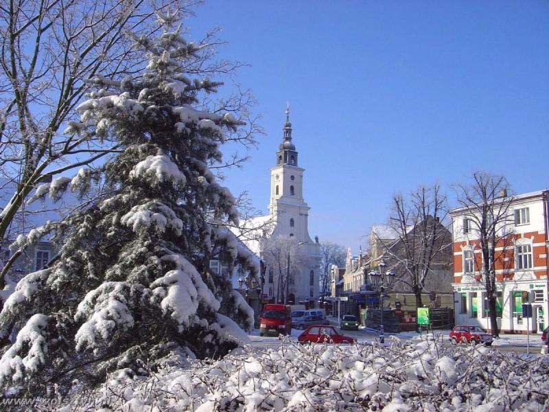 Wolsztyński Rynek zimą