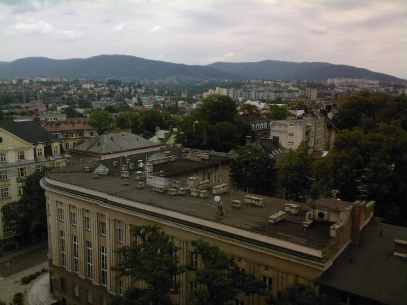 Panorama Bielsko-Biala Zrobione na szkole przemyslowej nr1 na sixta