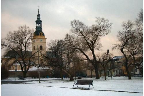 Rynek zimą