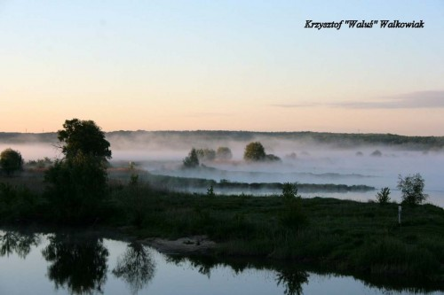 Mgła nad Odra - widok z mostu